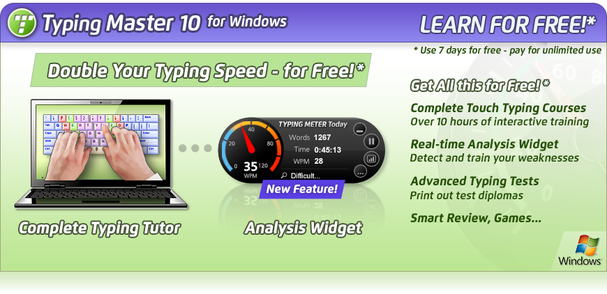 TypingMaster Pro 10 - Download a Free Typing Tutor for Windows