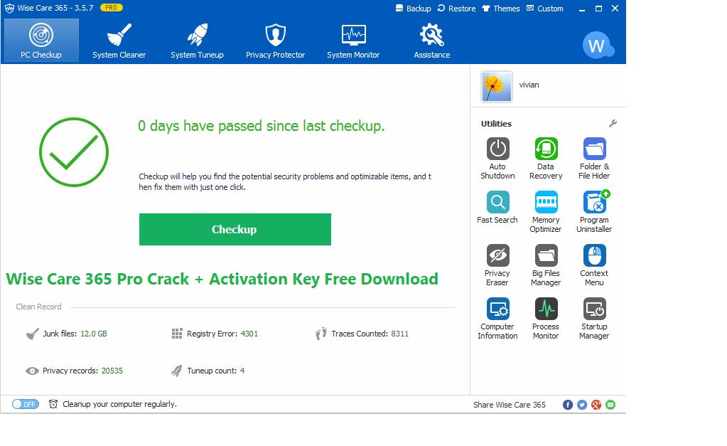 Wise Care 365 Pro 5.6.6 Crack + Free License Key [2021]