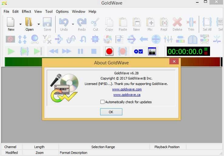 GoldWave 6.55 Crack Plus Keygen - Update Free Software